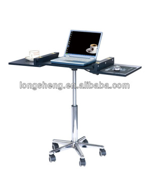 Movable Laptop Table Computer Desk With Metal Leg And Cylinder Stand Product On Alibaba