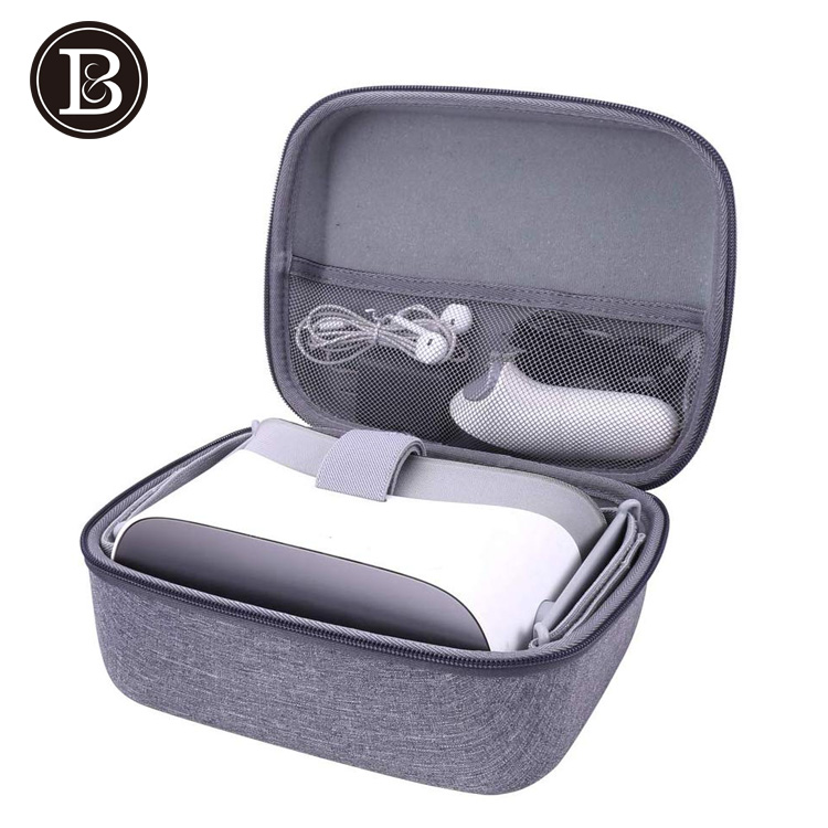 VR All-in-one Storage Bag EVA Hard Travel Case for VR Gaming Headset and Controllers Accessories Carrying Bag