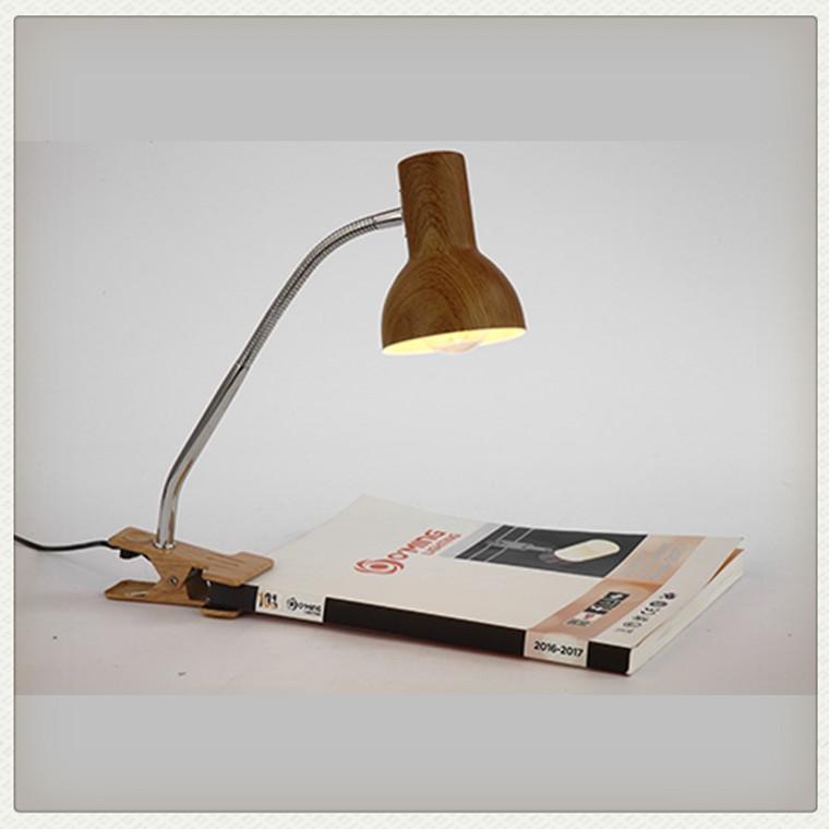 Kids Study Room Modern Clip Desk Lamp Wood Lamp Table Wooden Table Lamp