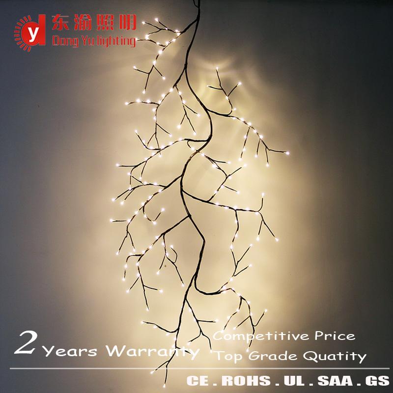 Led Wall Light,Hanging Lamp,Twig Tree 4ft Warm White