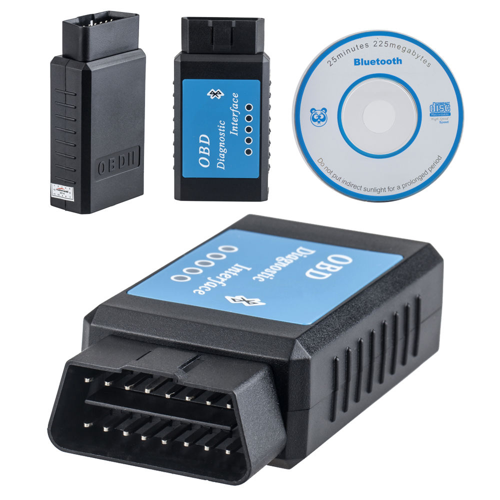 new obdii obd2 scanner mini elm327 bluetooth obd. Black Bedroom Furniture Sets. Home Design Ideas