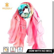 100 Silk Georgette Neck Cooling Fashionable Women Scarf