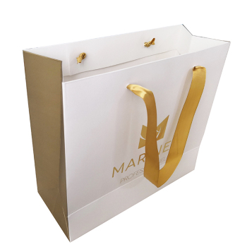 Custom Famous Brand Printed White Shopping Paper Bag bf8064b795f25