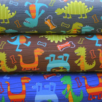 Breathable soft light weight 4 way stretch fabric for baby bedding lovely cartoon print fabric