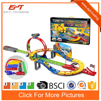 ejcet slot racing car track toys for kids