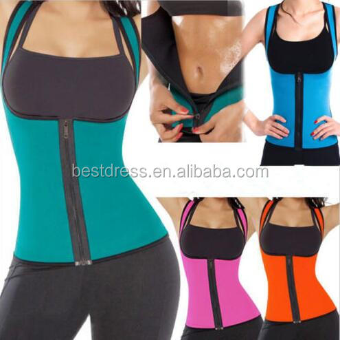 2016 Walson Women's Vest Slimming Body Shaper Tank Top Athletic Neoprene Sauna Vest Shapewear with colorful