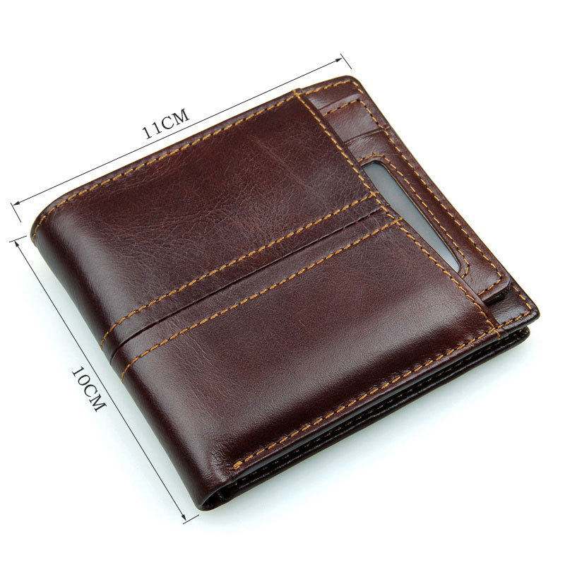 f95715ee662a Travelambo Genuine Leather Rfid Blocking Wallets Mens Wallet Bifold ...