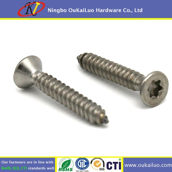 M4 x 15 Stainless Steel 304 Torx Flat Head Self Tapping Screws