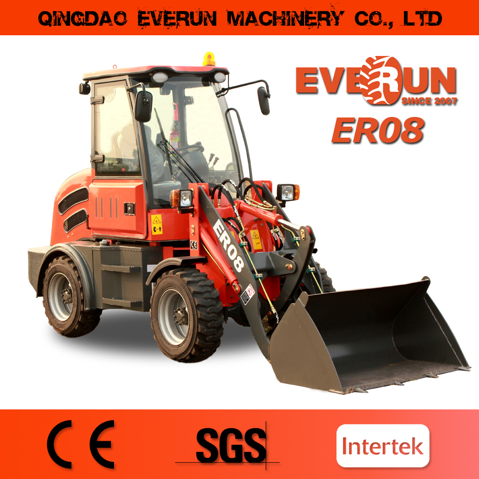 Everun ER08 Rops&Fops China High Quality Everun Small Wheel Loader