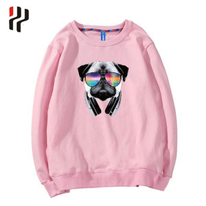 OEM factory fashion winter 100% 350grams fleece cotton custom silk screen printing men white crewneck sweatshirt