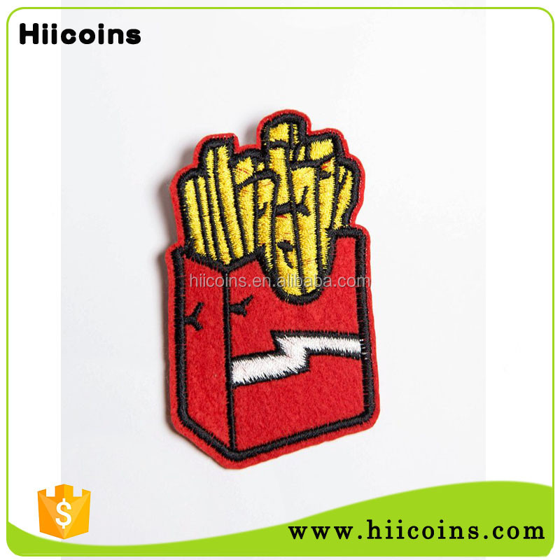 Wholesale customized cheap price factory supply woven patches for clothing