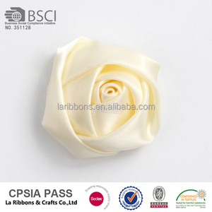 High quality decorative handmade small satin rose flowers