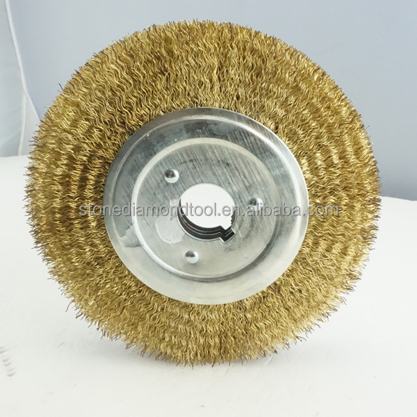 Steel Wire Metal Cleaning Grinding Brush Brass Weir Abrasive Brush ...