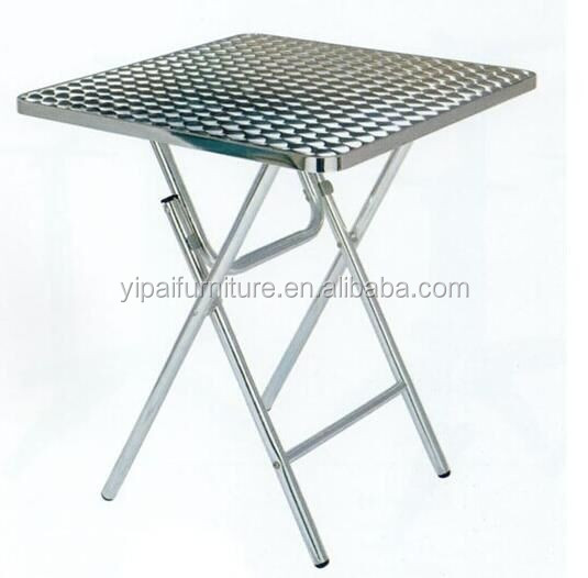 Stainless Steel Folding Table Breakfast Study Aluminum Foldable Table Small  Dining Table YT5A