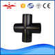 Cross fittings pe hdpe pipe fitting