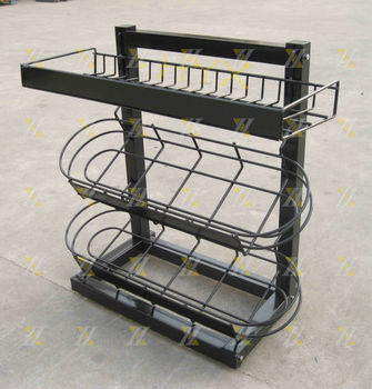 Metal Small Basket Rack Stand Wire Tabletop Display