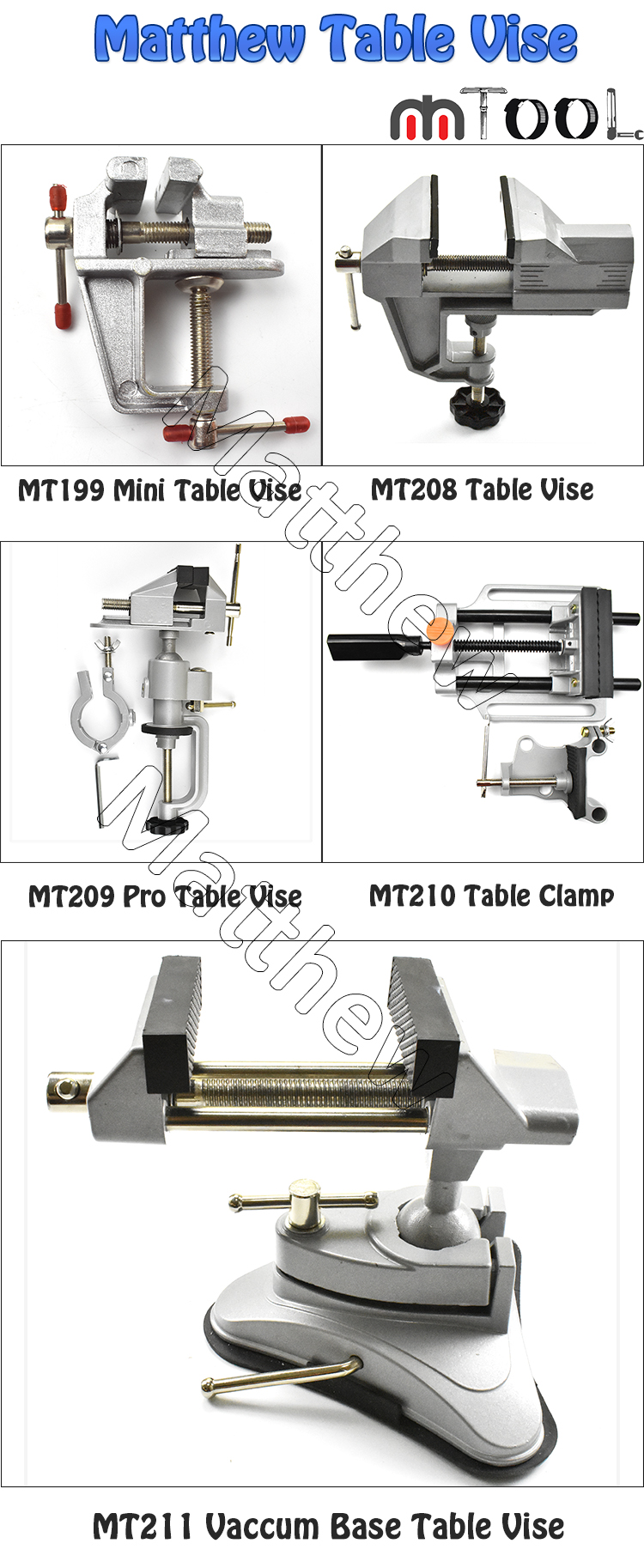 Universal Aluminum DIY Light Duty Mini Bench Vise