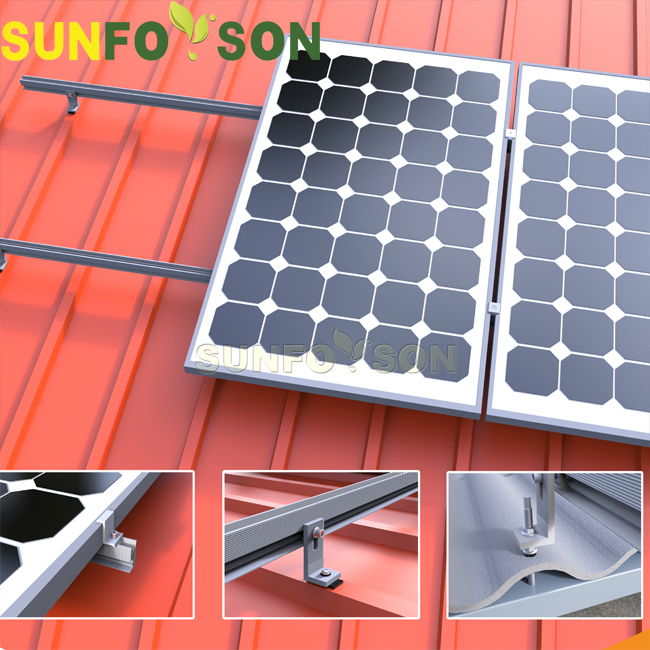Solar panel roof mount brackets installation tile roof solar mounting