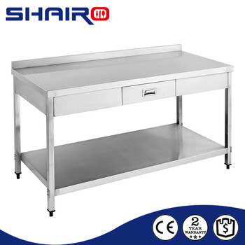 2 Layer Kitchen Work Table With Drawer