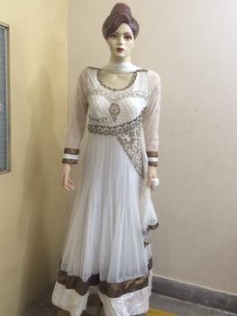 bf3bfe8de3 White Indian wedding heavy designer net anarkali salwar suits for women