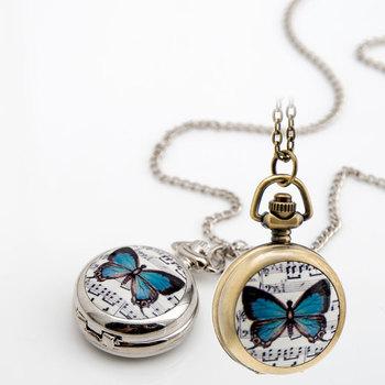 Lovely butterfly pocket watchcute pocket watch butterfly pendant lovely butterfly pocket watch cute pocket watch butterfly pendant necklace watch aloadofball Gallery