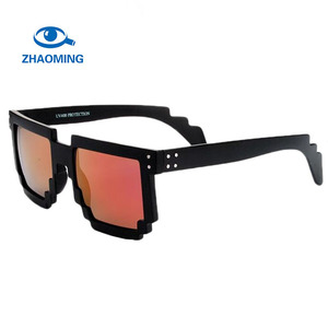 a297d0e95741 Rivet Pixel Glasses Minecrafts Mirror Pink Sunglasses Mosaic Party Glasses  Pixel Sun Glasses Male Women Luxury Brand Sunglasses