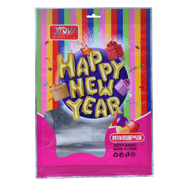 16inches  Happy New Year Letter Foil Balloon Set 2019 Happy New Year Anniversary Party Decoration Balloon Party Supplies