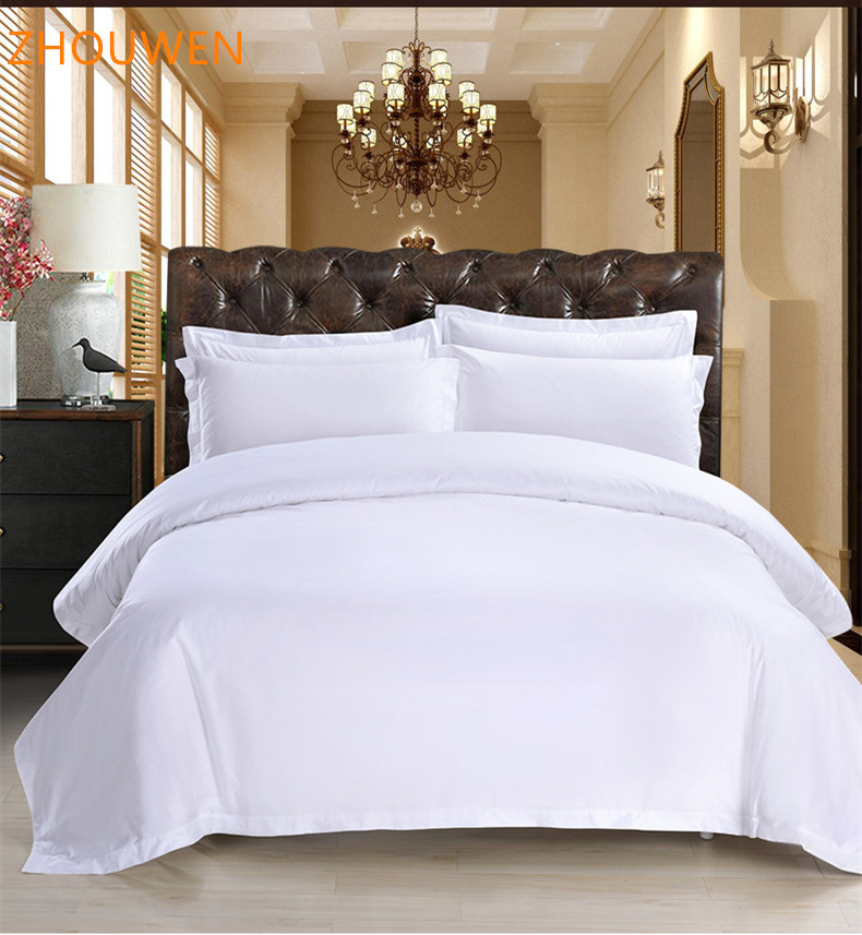 Promotion Hotel White Egyption Cotton Bed Sheet Comforter Set