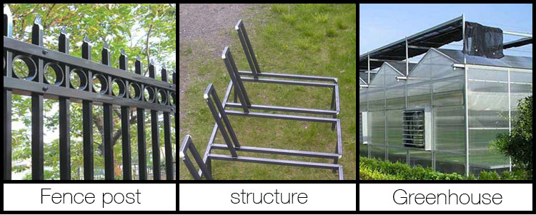 Building materials pre-galvanized steel pipe, carbon galvanized steel square tubing standard