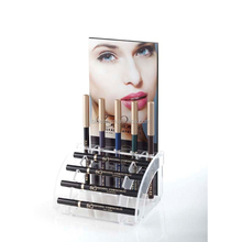 counter advertising acrylic makeup display stand cosmetic pencil rack