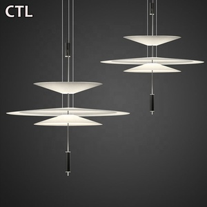 New dimming acrylic pendant light with spotlights Zhongshan hot restaurant hanging lamp LED modern style decorative chandelier