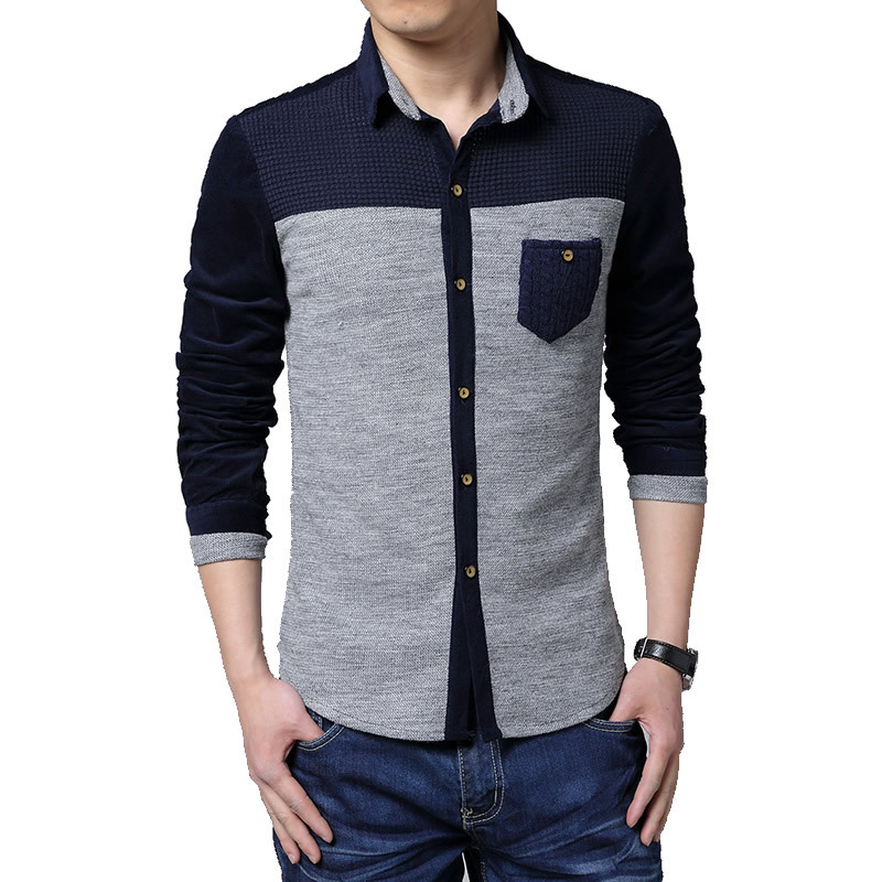 9d1c2bd7d640 Buy 2015 New Men Sweaters Shirt High Quality Mens Long Sleeve Casual Shirt  Casual Men Plus Size 5XL Slim Fit Social Shirts MAPP04114 in Cheap Price on  ...