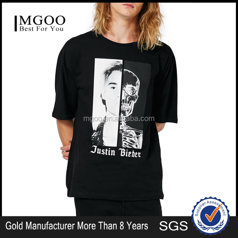 American Street T Shirt Justin Bieber Oversized T-Shirt Custom Tags and Label T Shirt With Cotton Blends Logo Print Tops