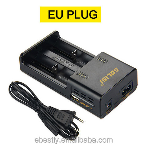 Best Selling Wholesale 18650 18350 Battery Charger US/EU/UK plug nimh GOLISI O2 battery charger