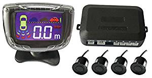 YIMU 4 Sensors 22mm Buzzer LCD Parking Sensor Kit Display Car Reverse Backup Radar Monitor System 12V 7 Colors ,3.5 Inch Color Lcd Display ,Car Parking Sensor,Alarm by Three-Step Bibi Sound