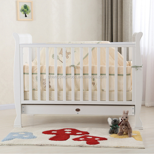 New Zealand pine solid wooden baby bed junior bed cot