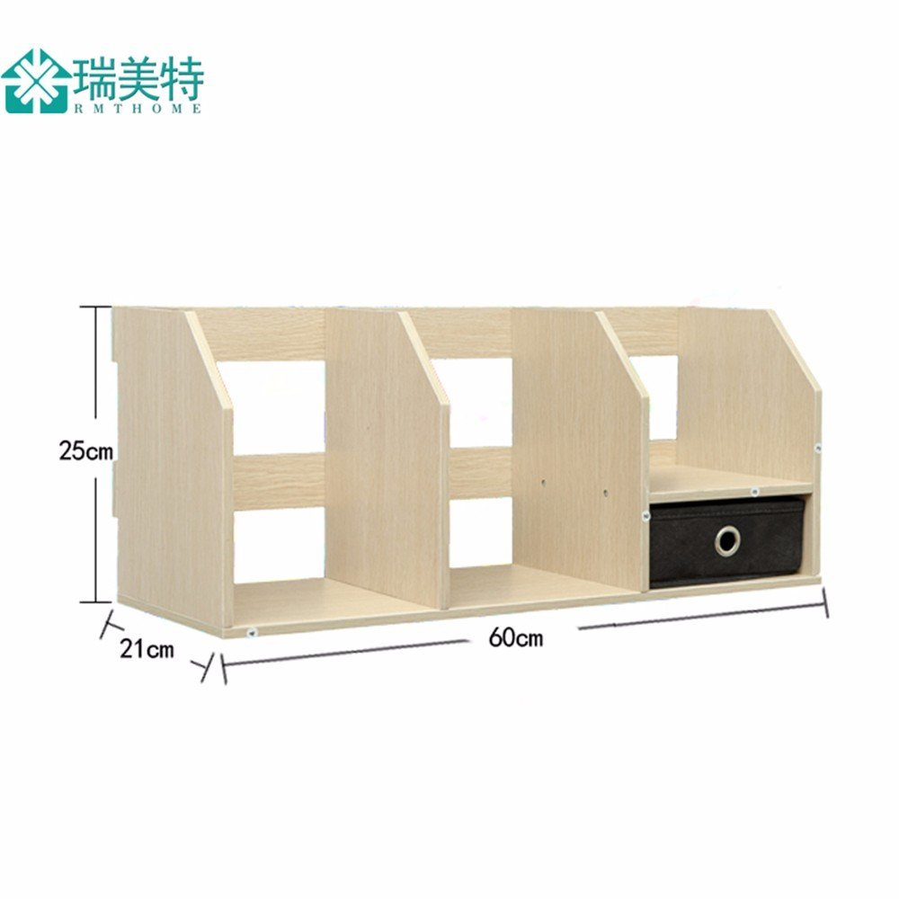 Get Quotations Freestanding Book Shelf Desk Top Organization Creative With Drawers Office Little BookshelfTable