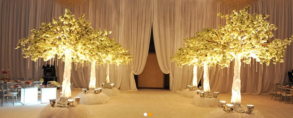 Large artificial trees cherry blossoms wedding decoration for Artificial flowers for wedding decoration