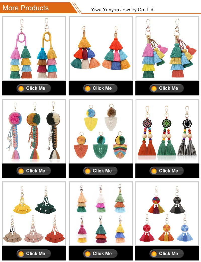 2020 New Trendy Crystal Multi Colored Sequin Bangle Keychain Bracelets Wristlet Keychain Bracelet