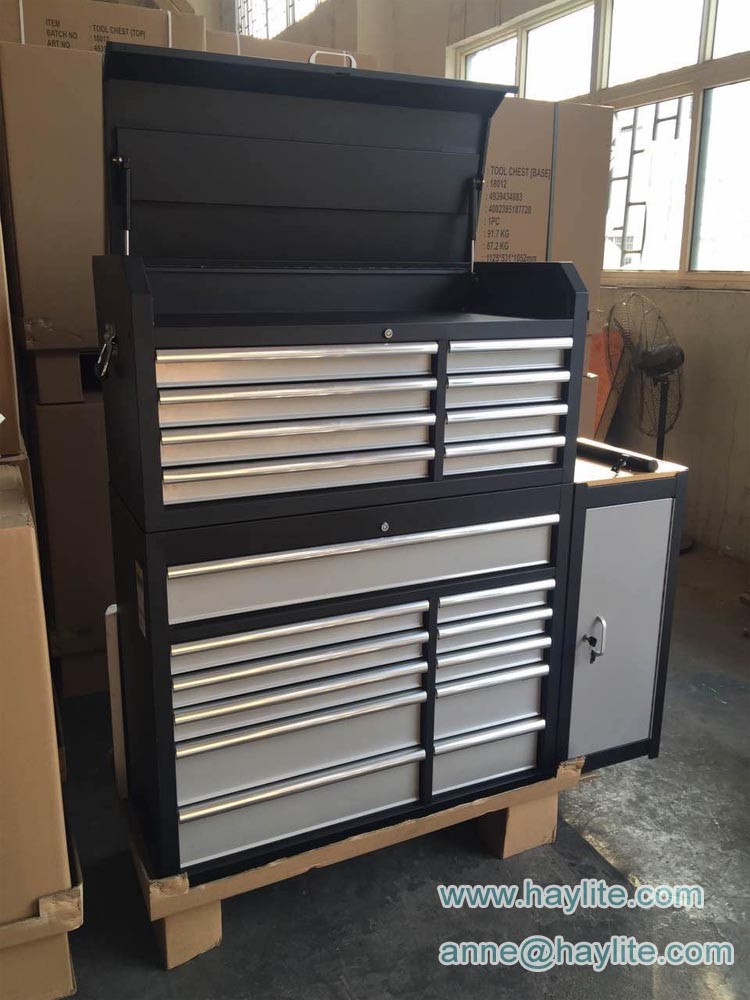 black powder coating steel tool cabinet with drawers for sale