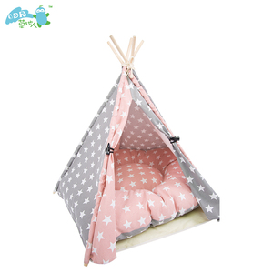 2018 Oem diy 100% Cotton canvas wooden luxury camping pet tents Teepee Indian Tent Toys Tipi Tent With Ce/sgs