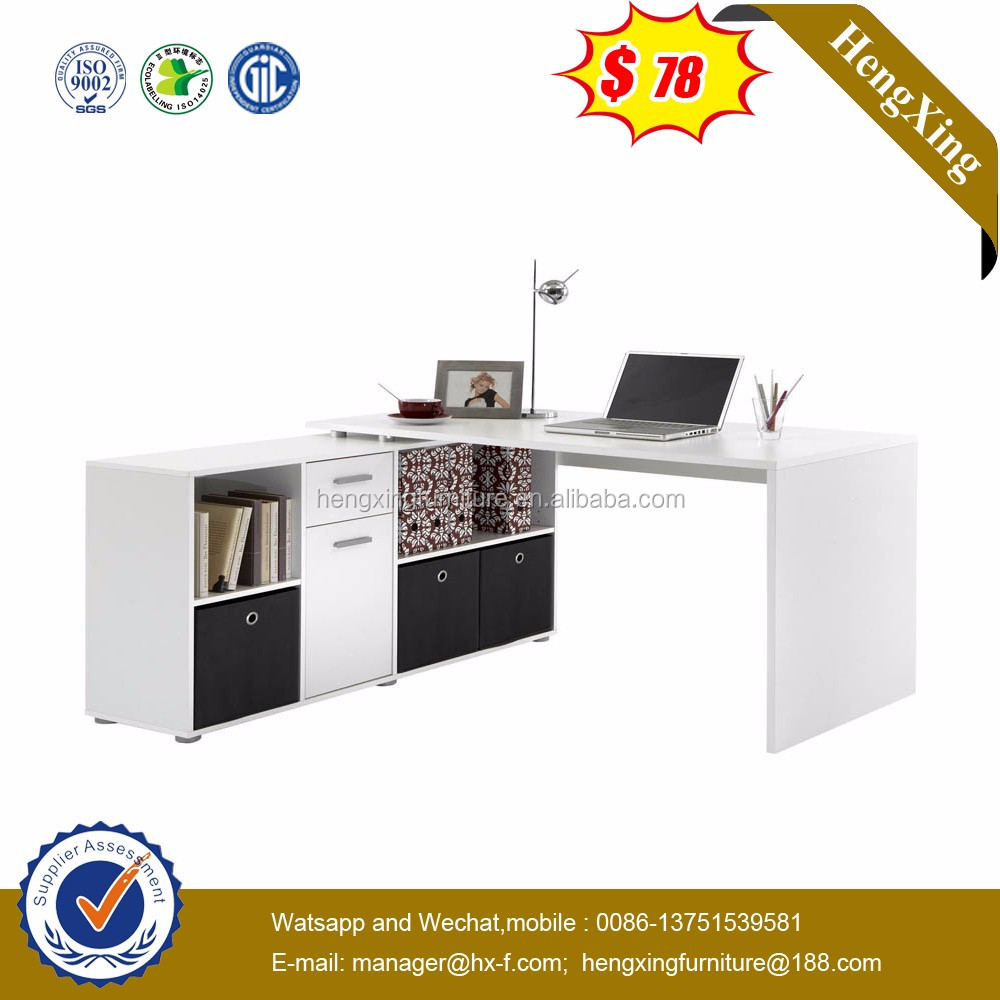 Hot Selling Low Price White High Gloss Wooden Computer