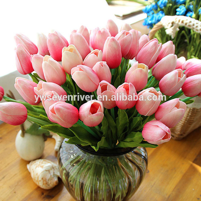 Artificial flowers wholesale pu real touch mini tulip flowers for decoration