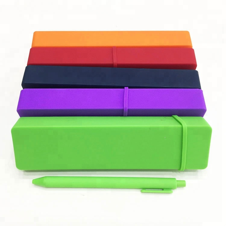 Rectangle Anti Broken Creative Candy Pencil Box Holder School Fashion Stationary Pencil Cases With Pen