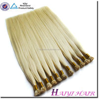Wholesale Price Remy Italian Keratin Double Drawn Nail Sticker Hair Extension