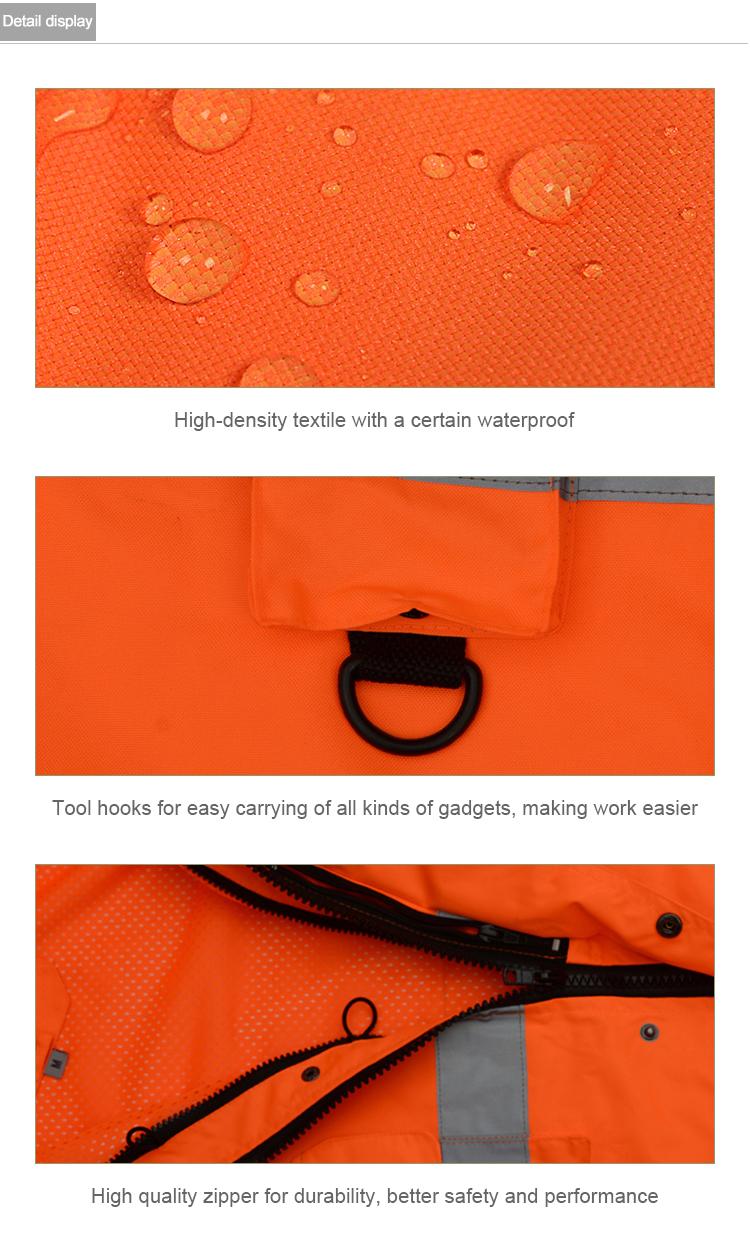 Reflexivo Aquecida Dos Homens Jaqueta Jaqueta de Trabalho de Segurança de Segurança do Trabalho