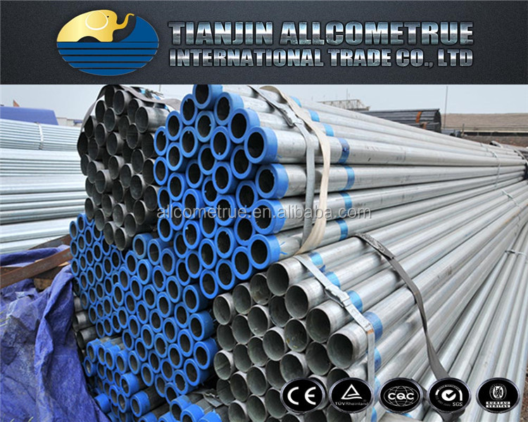 China manufacturer Hot rolled hollow section round galvanized steel pipe price s627