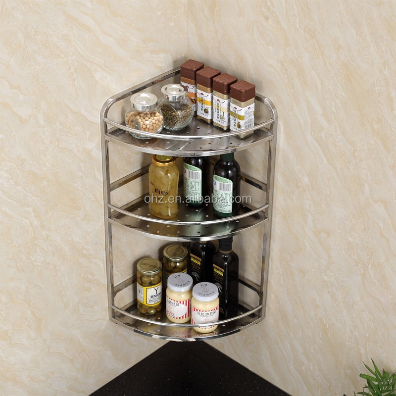 Polishing 3 Layer Stainless Steel Kitchen Modular Decorative Storage