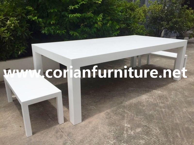 Corian Outdoor table garden table top 2016 new design