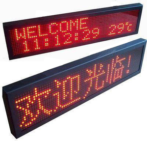Indoor Led Panel Led Scrolling Message Signs Electronic Led Programmable Sign Display Board